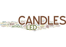 Led Candles Are On Off Candles Text Background  Word Cloud Concept Stock Images