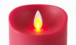 Led Candles. With white background, modern candles Royalty Free Stock Image