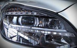 LED car light - rectangular. New technolgy: LED car light - close-up Royalty Free Stock Image