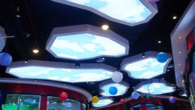 Led ceiling light used in shopping mall Royalty Free Stock Photography