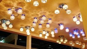 Led ceiling home lighting shop Stock Photography