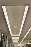 Led ceiling of modern  plaza hall Royalty Free Stock Photo
