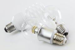 LED, CFL e tungsteno classico Fotografia Stock