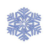 LED Christmas snow flake isolated on white background