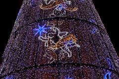 Led Christmas tree Stock Image