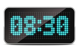 LED Clock, vector illustration stock photography