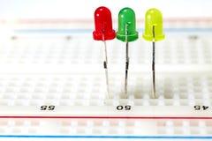 LED colorées Images stock