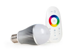 LED colored light with remote control Royalty Free Stock Photo