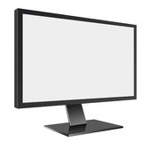 LED Computer Mornitor with blank screen on white Stock Images
