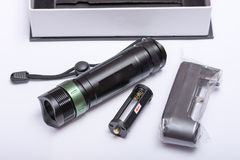 LED cree flashlight torch green button Royalty Free Stock Images