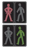 LED crosswalk signal Stock Photography
