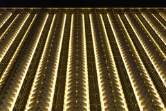 Led curtain wall night lighting of modern commercial building Stock Images