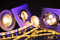 LED différente Photographie stock