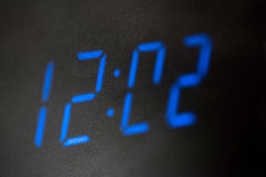 LED digital clock. Stock Image