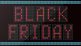 LED digital das Wortschwarze Freitag auf schwarzem Hintergrund Lizenzfreies Stockfoto