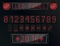 LED digital figure on black background. Illustration of LED digital figure on black background Royalty Free Stock Photos
