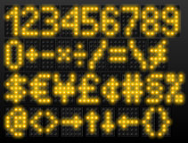 Led digital font based on dot-matrix technology Stock Photos