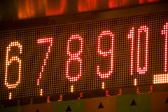 Led digital number Stock Photography