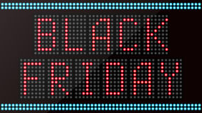 LED digital the word black friday on black background Royalty Free Stock Photo