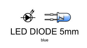 Led diode icon and symbol, blue Stock Photography
