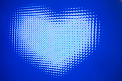 Led diodes - heart. Led diodes blue - st.valentine's day heart Stock Photos