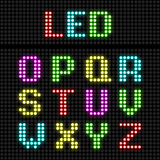 LED display alphabet Stock Photography