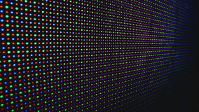 Led display close up. LED show - Colors and shapes on the LED display as abstract background. Stock Images