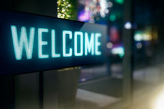 LED Display. Modern Welcome signage royalty free stock images