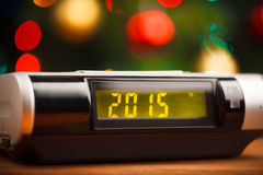 Led display with 2015 new year Stock Photo