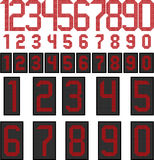 LED display numbers. Numbers LED display with a dotted background with frame and without Stock Photography