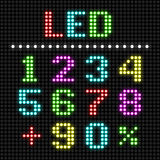 LED display numbers Royalty Free Stock Images