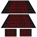 LED display - Set 1 - Cancelled and Delayed vector illustration