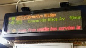 Led Display subway information. Led Display subway or tube information stock footage