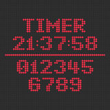 LED display timer. Stock Images