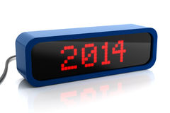 Led display of 2014 year. On white stock illustration