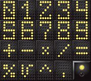 Led dot display numbers Royalty Free Stock Photos
