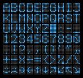 LED Dot Matrix Panel Buchstaben, Zahlen, Interpunktionszeichen, arithmetische Zeichen, grundlegende Emoticons und Navigationspfei stock abbildung