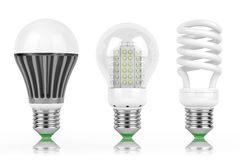 LED economy lamps Royalty Free Stock Image