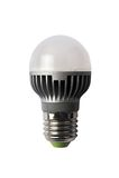LED energy safing bulb. G45 E27. Isolated object. LED energy safing bulb. Light-emitting diode. Isolated object Royalty Free Stock Photography