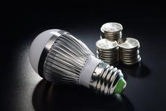 LED energy saving bulb Stock Photos