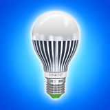 LED energy saving electric lamp Royalty Free Stock Images