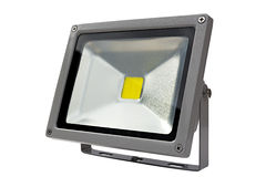 LED Energy Saving Floodlight gray. Stock Photo