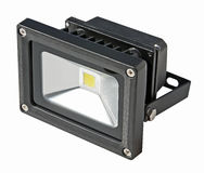 LED Energy Saving Floodlight. Stock Photo