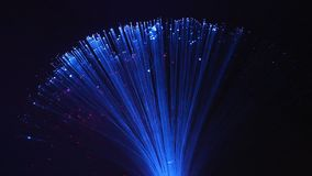 Led fibre optic lamp stock footage