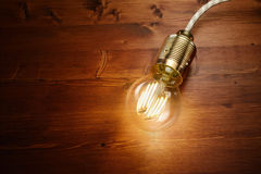 LED filament classic  bulb Royalty Free Stock Photos
