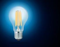 LED filament light bulb (E27) Stock Image