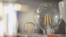 LED filament light bulb E27 stock video
