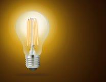 LED filament light bulb (E27) Stock Images