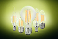 LED filament light bulb Royalty Free Stock Image
