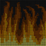LED fire background Royalty Free Stock Photography